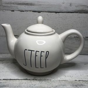 Rae Dunn STEEP Teapot NEW! white LL artesian